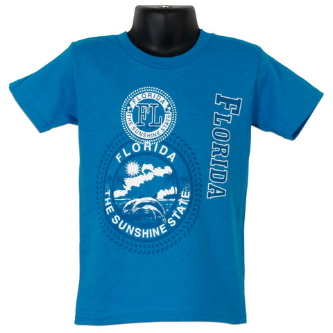 YTFL01T Youth T - Florida Stamp  TURQUOISE