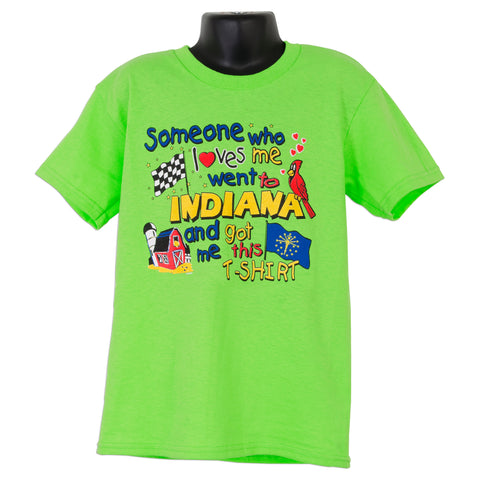 YTIN01L Youth T Someone Loves Me - Indiana LIME