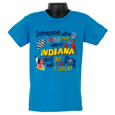 YTIN01T Youth T Someone Loves Me - Indiana TURQUOISE