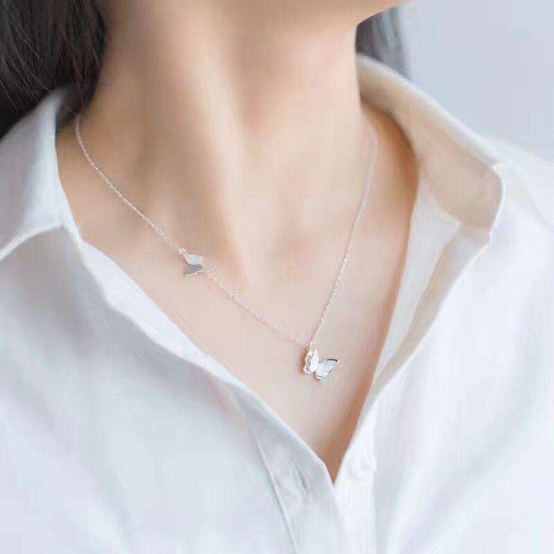 Floating Butterfly Necklace,Blissful Chic