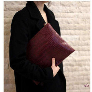 Le Faux Crocodile Envelope Clutch,Blissful Chic
