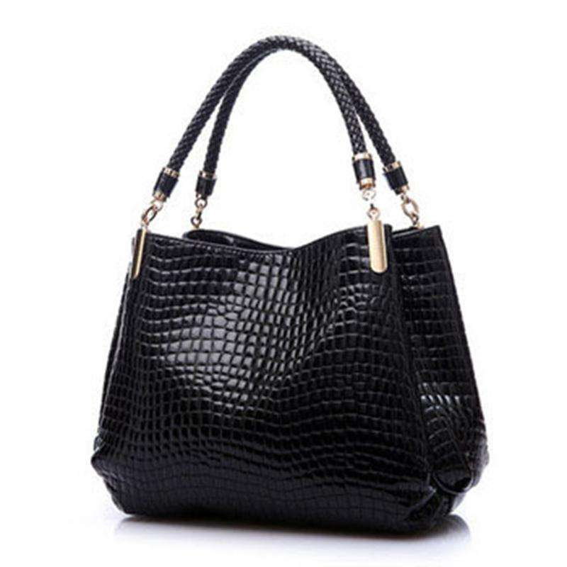 Alli Faux Leather Handbag,Blissful Chic,Black
