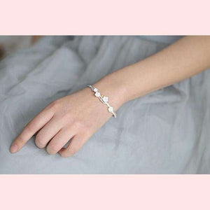 Sakura Flower Bangle,Blissful Chic