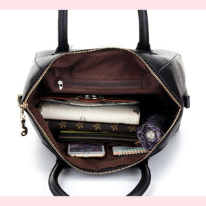 Angela Faux Leather Handbag,Blissful Chic