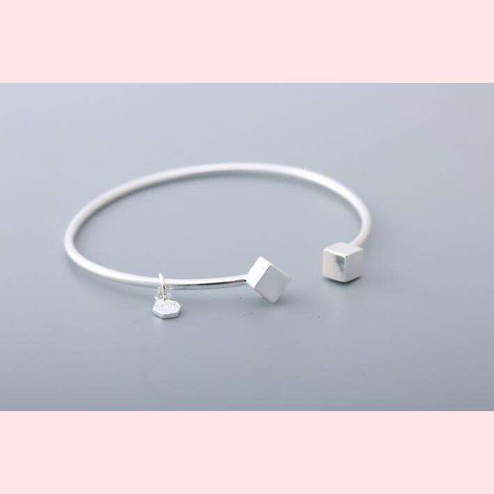 Elegant Cubic Bangle,Blissful Chic