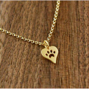 Paw Love Necklace,Blissful Chic,Gold-Color