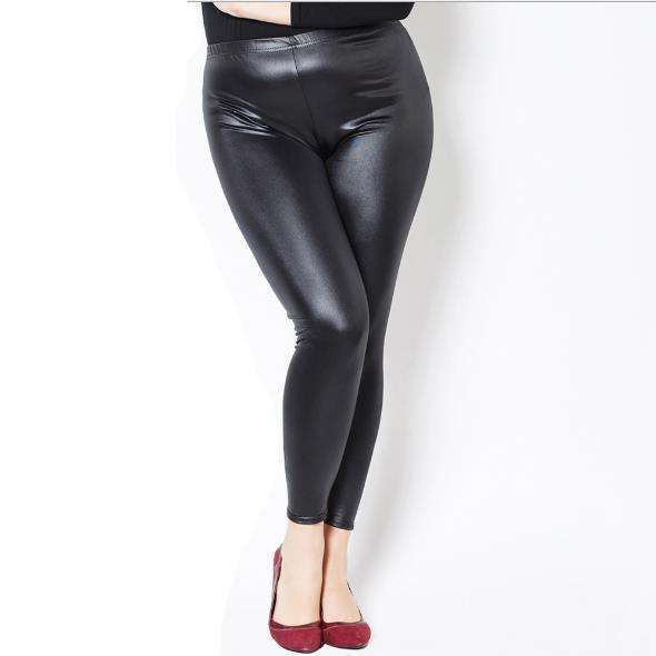 Faux Leather Leggings,Blissful Chic,Black / XL