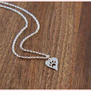 Paw Love Necklace,Blissful Chic,Silver-Color