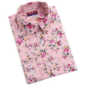 Flower Power Blouse,Blissful Chic,Pink Flower / XL