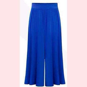 Breezy Palazzo Pants,Blissful Chic,Blue / 3XL