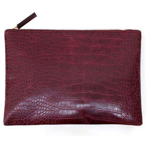 Le Faux Crocodile Envelope Clutch,Blissful Chic,Burgundy / (30cm<Max Length<50cm)
