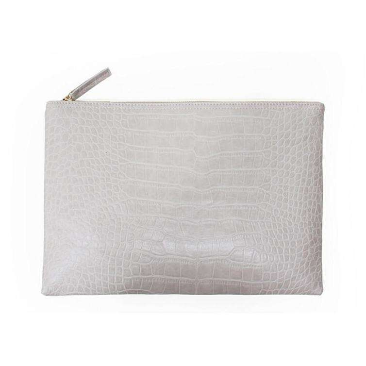 Le Faux Crocodile Envelope Clutch,Blissful Chic,White / (30cm<Max Length<50cm)