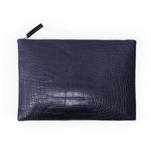 Le Faux Crocodile Envelope Clutch,Blissful Chic,Deep Blue / (30cm<Max Length<50cm)