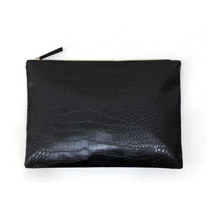 Le Faux Crocodile Envelope Clutch,Blissful Chic,Black / (30cm<Max Length<50cm)