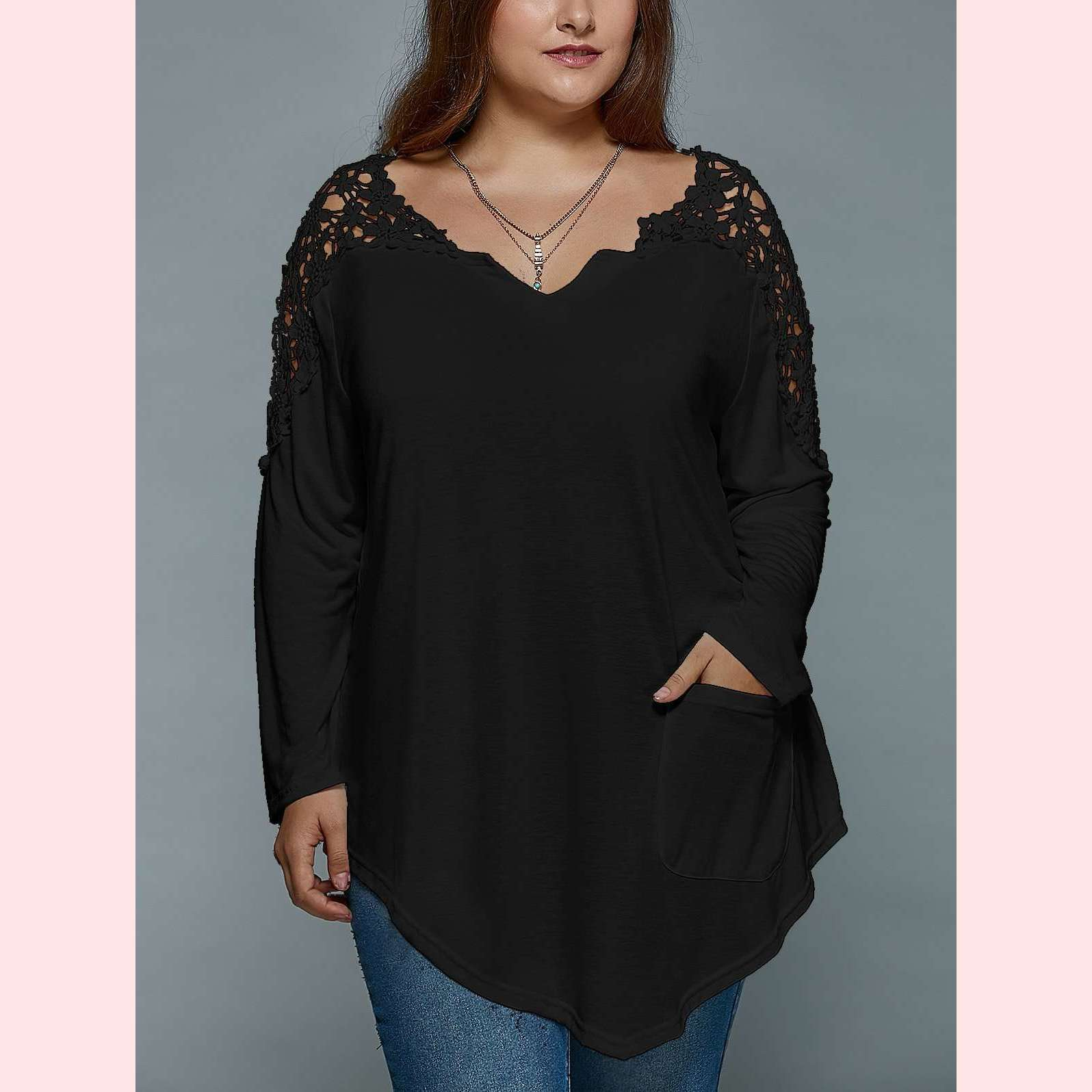 Sweet Daisy Top,Blissful Chic,Black / XL