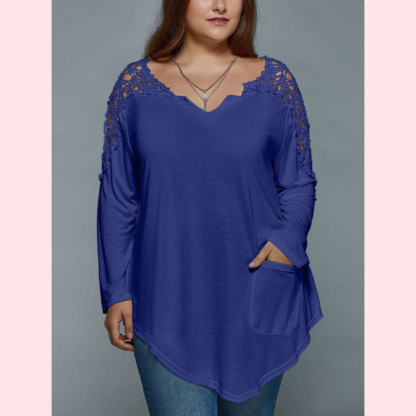 Sweet Daisy Top,Blissful Chic,Blue Violet / XL