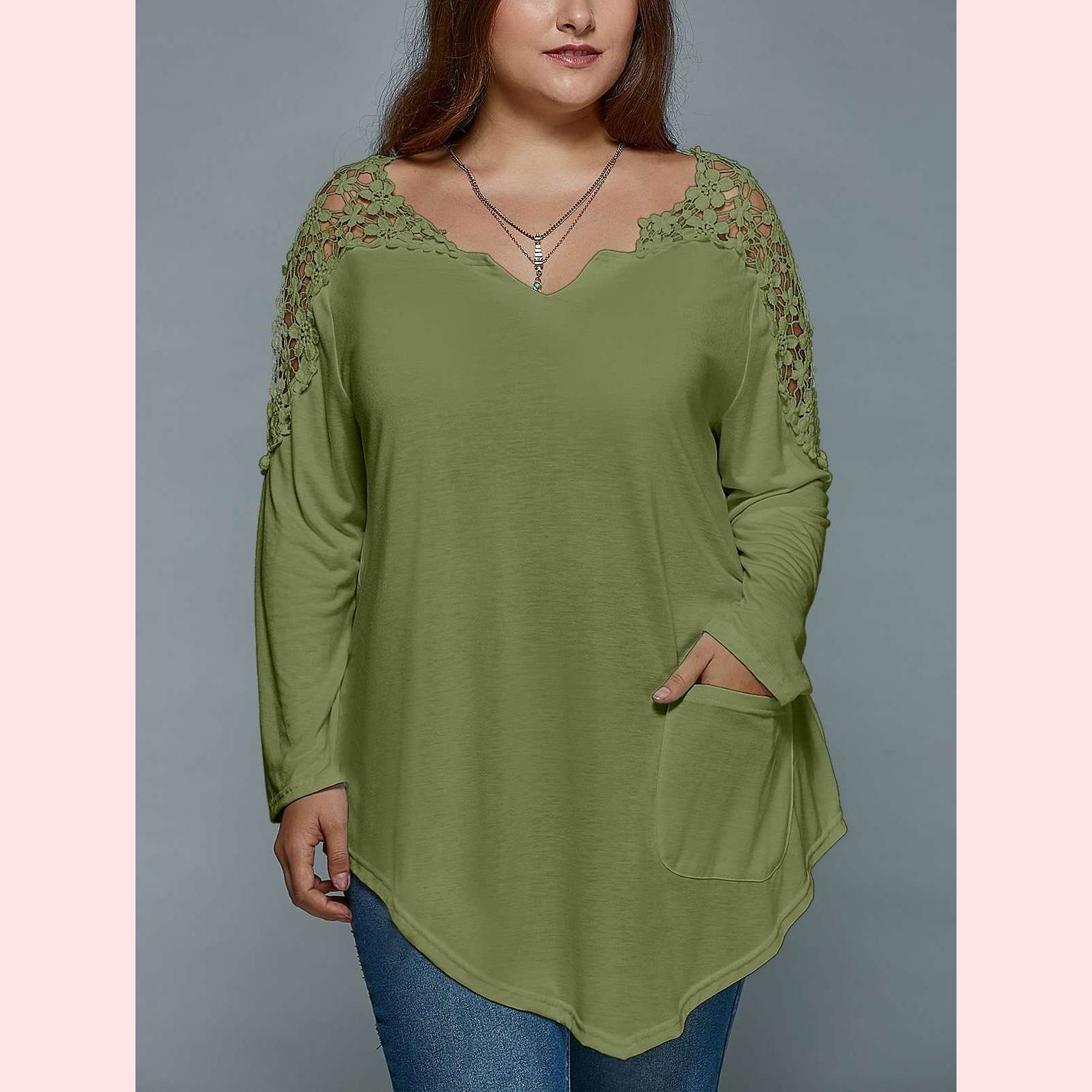 Sweet Daisy Top,Blissful Chic,Olive Green / XL