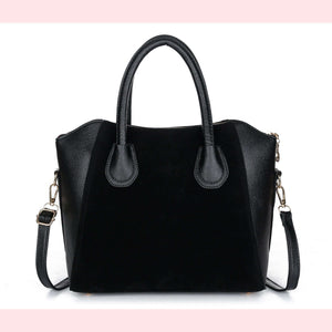 Angela Faux Leather Handbag,Blissful Chic,Black