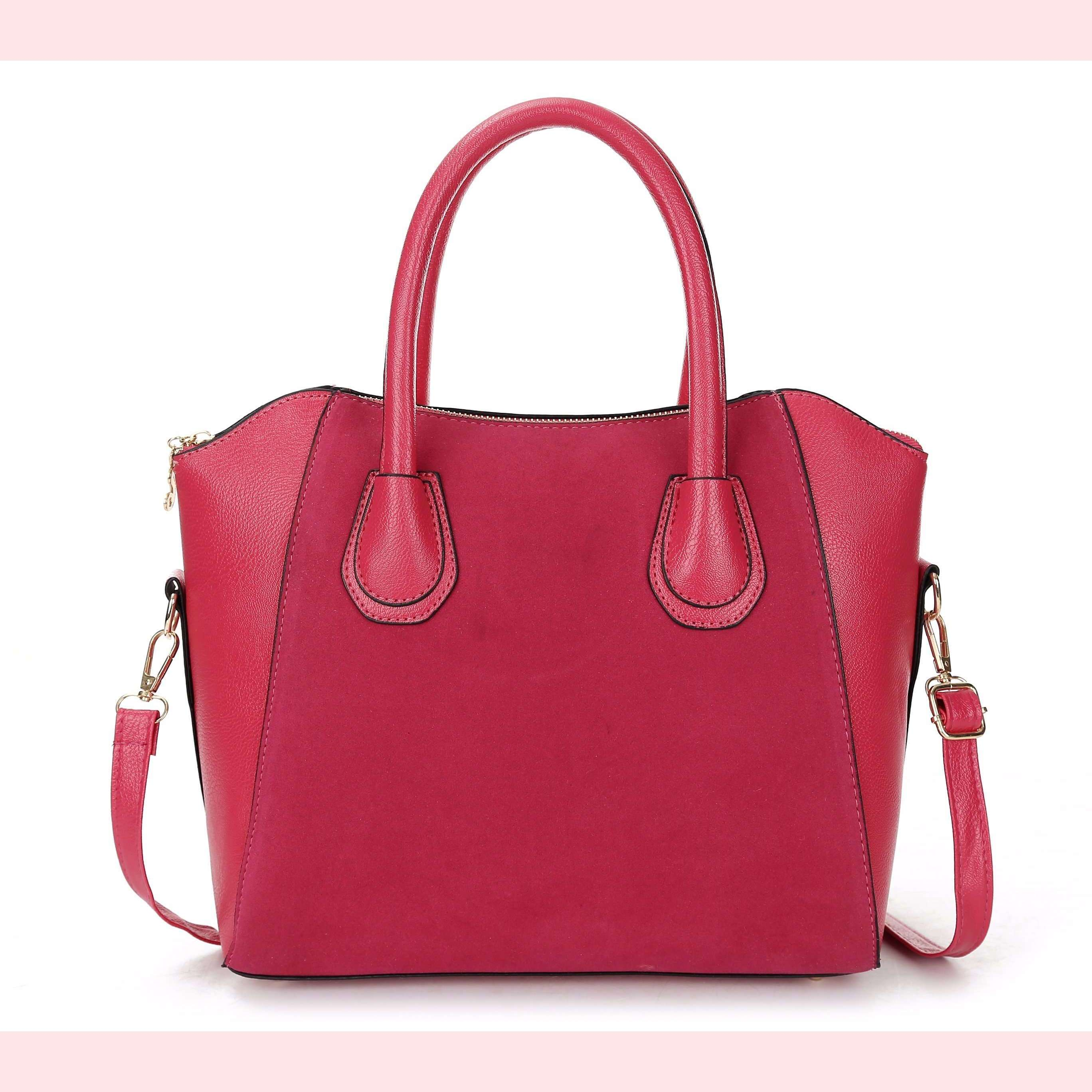 Angela Faux Leather Handbag,Blissful Chic,Red