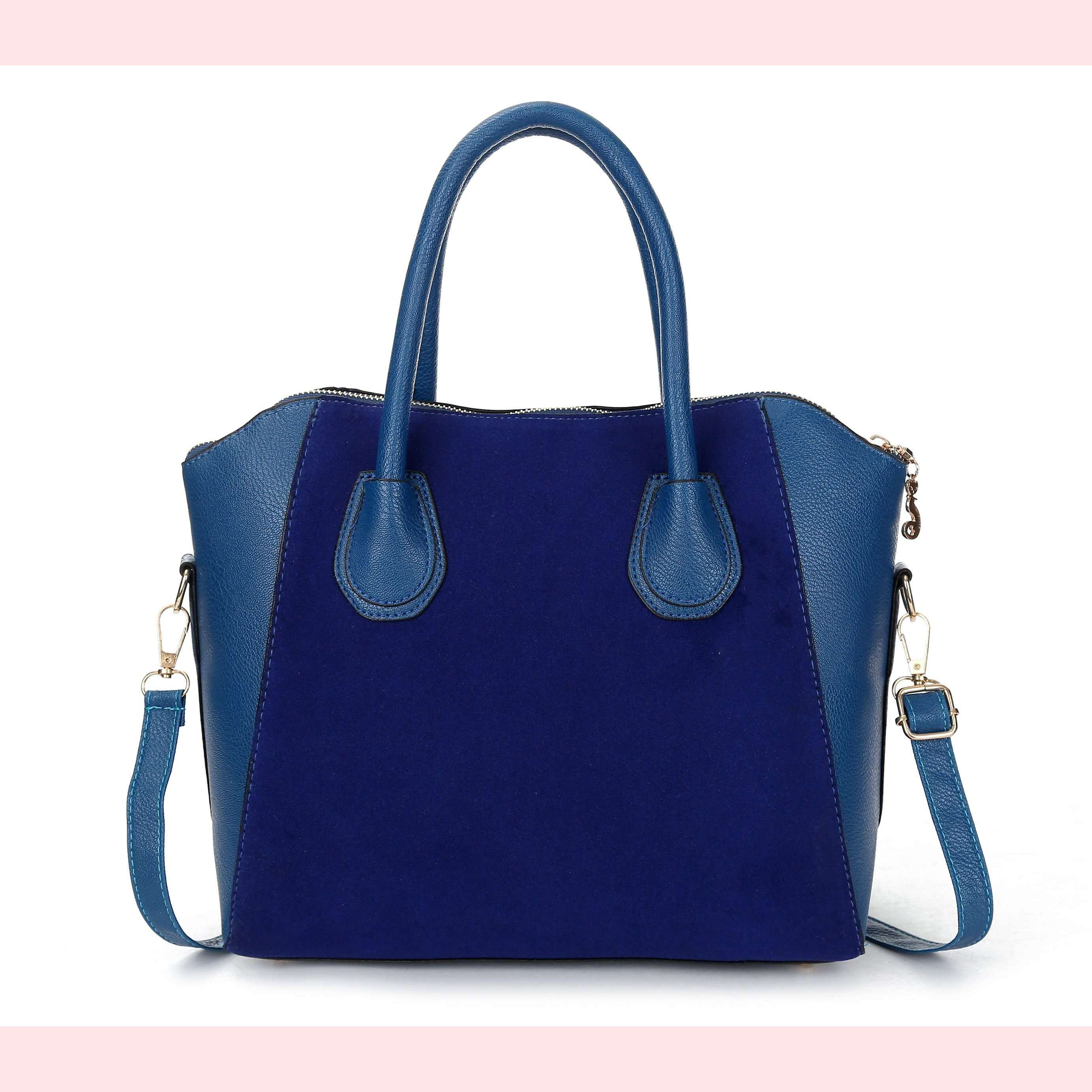 Angela Faux Leather Handbag,Blissful Chic,Blue