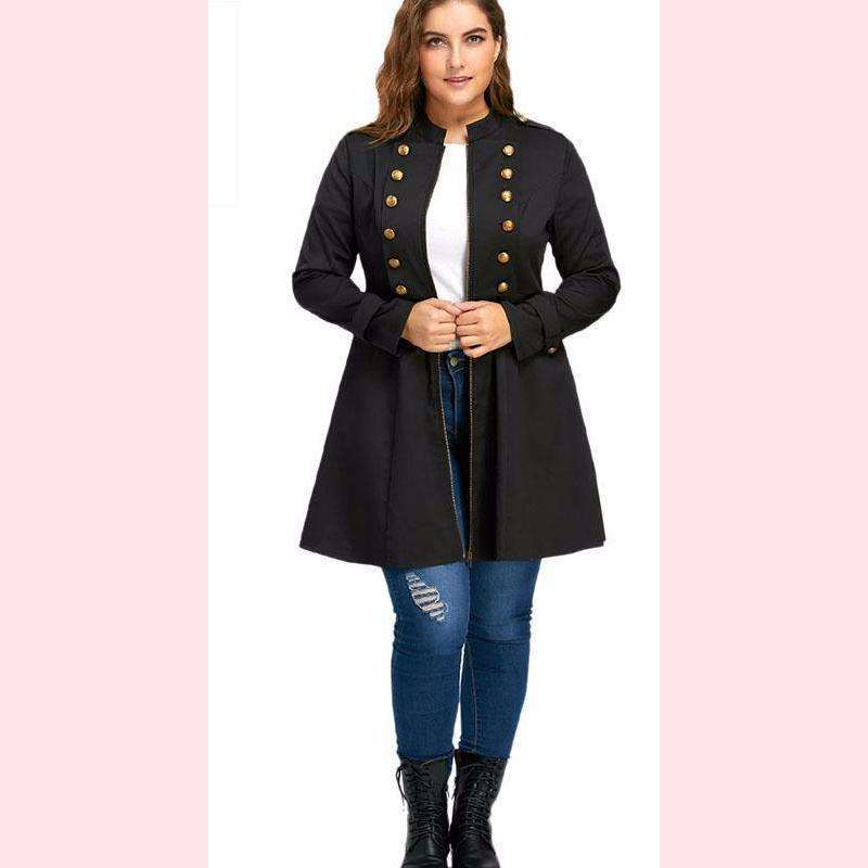 Joan Militia Coat,Blissful Chic,Black / XL