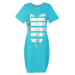 Shining Heart T-Shirt Dress