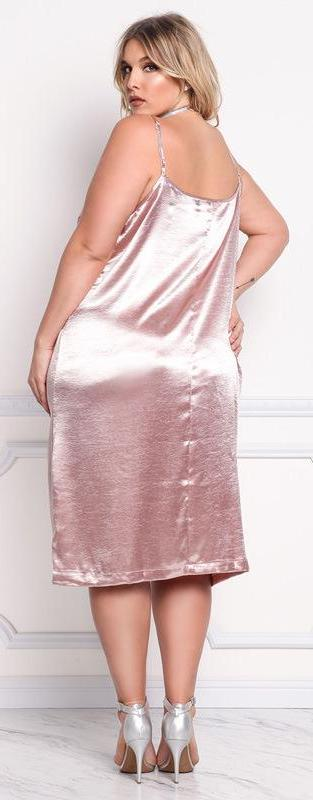 Liquid Metal Slip Dress