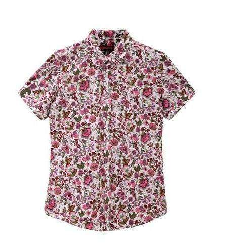 Fruits and Flowers Tops,Blissful Chic,Pink Daisy / XL