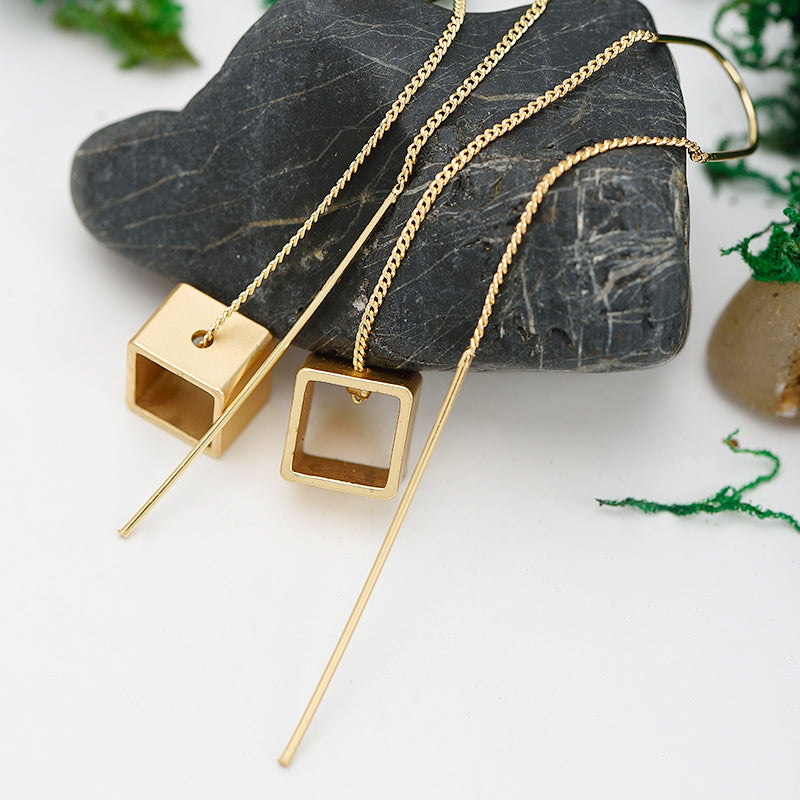 Squared Drop Earrings
