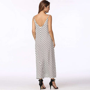 Dotty Maxi Dress,Blissful Chic