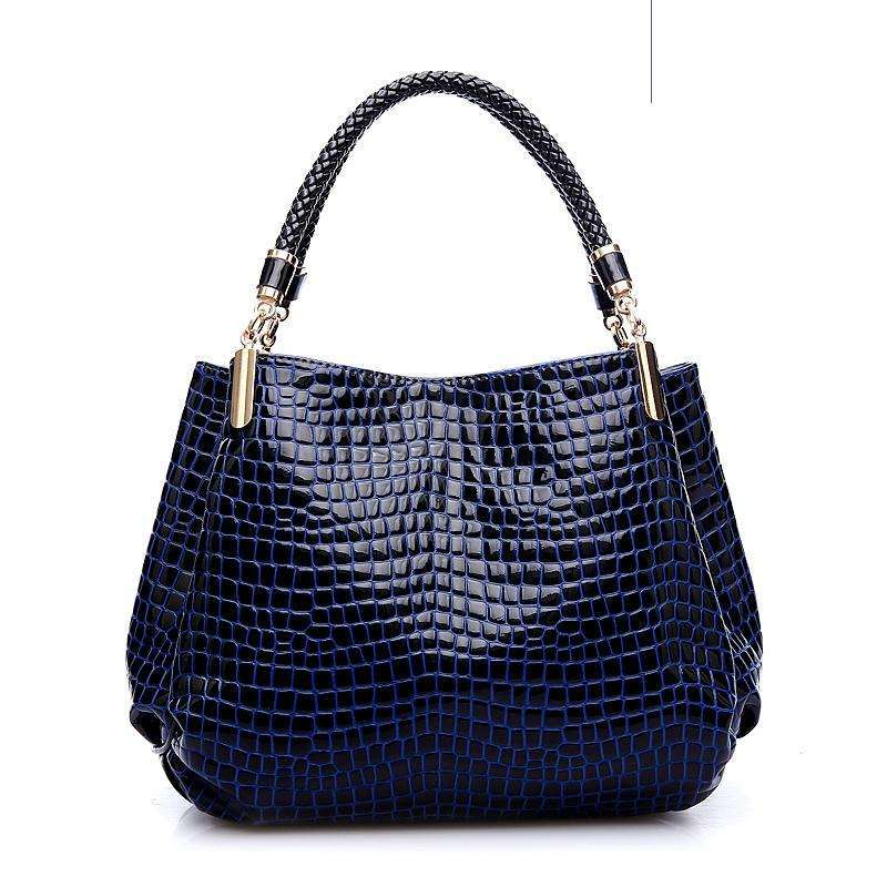 Alli Faux Leather Handbag,Blissful Chic,Blue