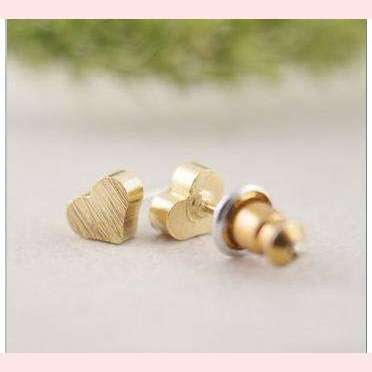 My Heart Earrings,Blissful Chic,Gold Plated