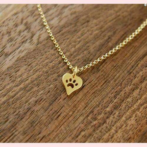 Paw Love Necklace,Blissful Chic