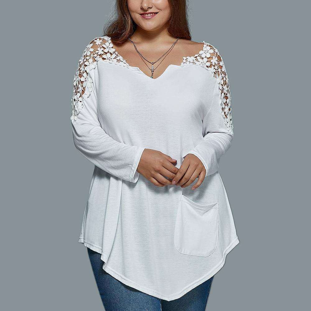 Sweet Daisy Top,Blissful Chic,White / XL