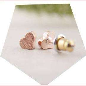 My Heart Earrings,Blissful Chic,Rose Gold Plated