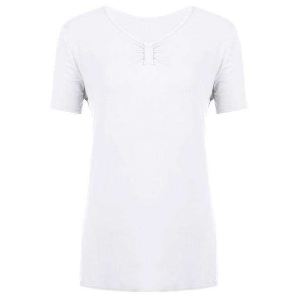 Casual T-Shirt,Blissful Chic,White / XL