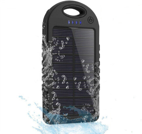Waterproof Solar Power Bank Portable Phone Charger for iPhone and Android (USB)