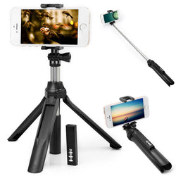 Bluetooth Extendable Selfie Stick and Tripod for iPhone 6/6S/6 Plus, Samsung and Sony