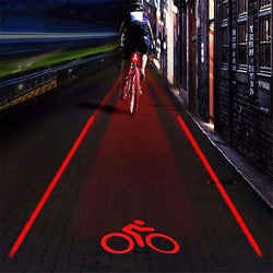 2 Laser + 5 LED Bicycle Tail Light