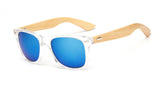Wood Arm Angle Sunglasses
