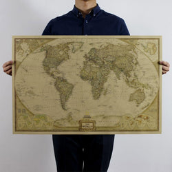 Large Vintage World Map