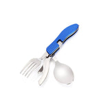 3-on-1 Folding Spoon-Fork-Cutlery Kit