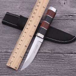 Black and Brown Fixed Blade Knife