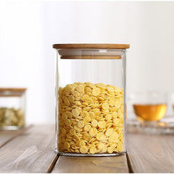Medium Glass Jar with Bamboo Lid