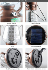 Solar Powered LED Camp Lantern
