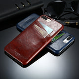 Business Style Luxury Leather Wallet Case for Apple iPhone 5, 5s, 6, 6s, 6 Plus, 7, 7 Plus