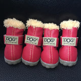 Waterproof Dog Boots With the Fur