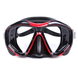 Tempered Glass and Silicone Diving Mask (Removable Lens)