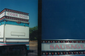 Cynthia Connolly, Corndogs and Sausages on I-5 North in Southern Oregon, 7-30-00 (E-Z U-Frame-It series)