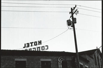 Cynthia Connolly, Hotel Congress, Tucson, Arizona 2-5-97 (Letters on Top of Buildings Grab Bag series)